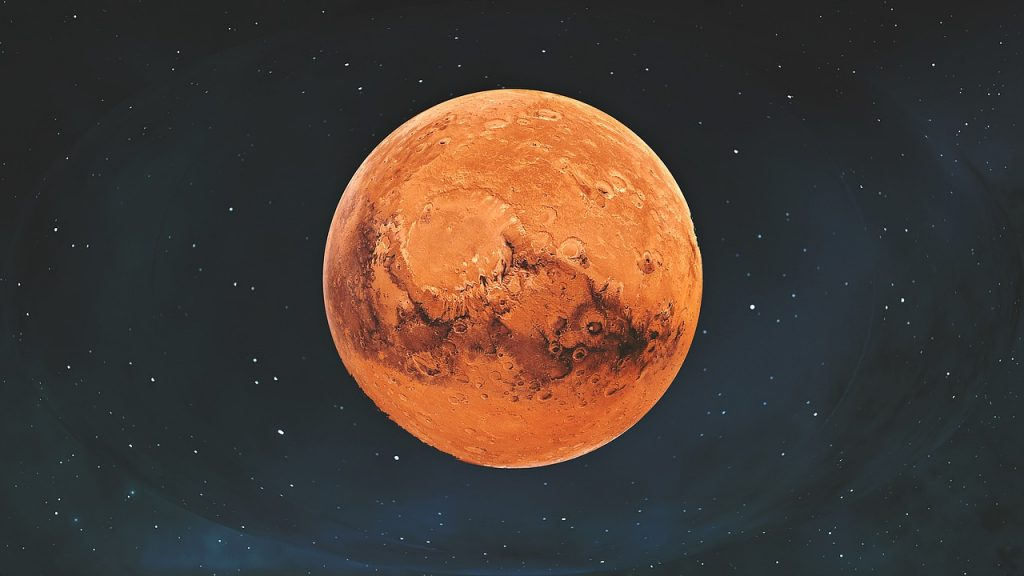 mars, planet, space
